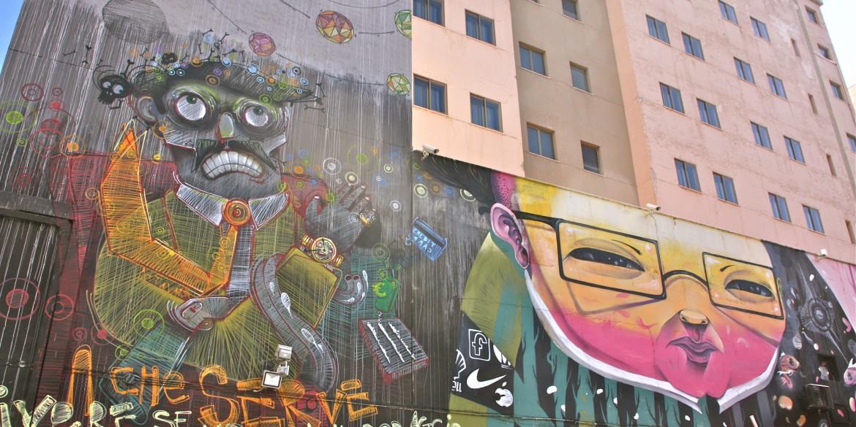 Palermon graffitein koristellut kujat