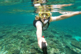 snorklausta Pulau Wehin saarella Indonesiassa.